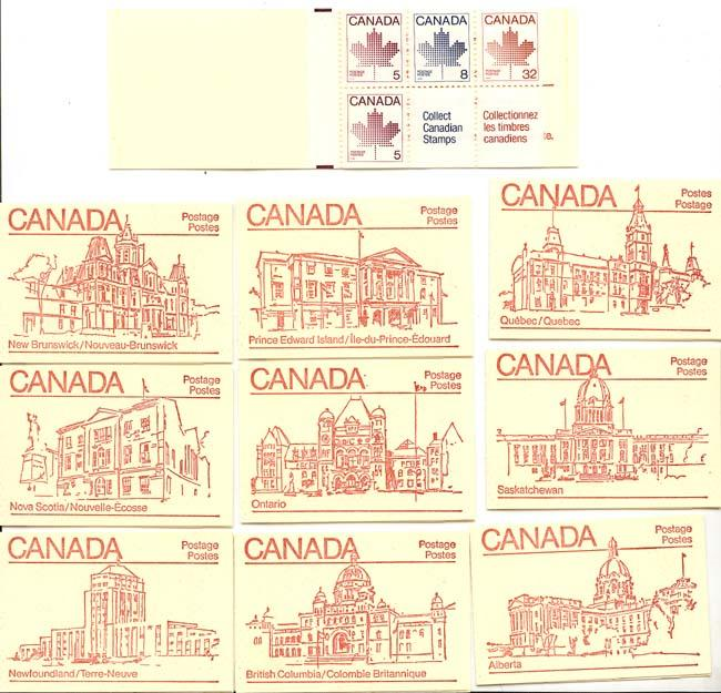 Canada - 1983 50c Booklets Complete Set of 10 #BK84a