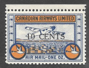Doyle's_Stamps: 1934 Canadian Private Commercical Airmail Issues Scott #CL52**