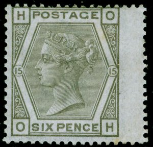 SG147, 6d grey plate 15, VLH MINT. Cat £500. OH