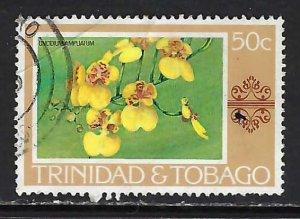 TRINIDAD & TOBAGO 287 VFU FLOWERS K652-2