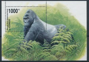 Congo MNH S/S Gorillas Primates 2002