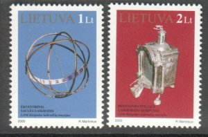 LITHUANIA CLOCK MUSEUM 2000 SET OF 2 MNH R2021194