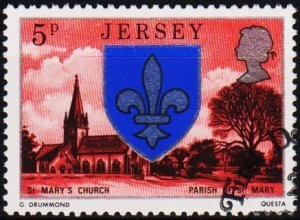 Jersey. 1976 5p S.G.139 Fine Used