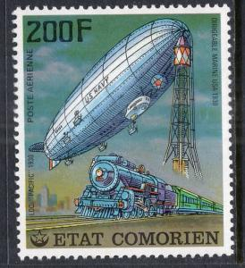 Comoro Islands 251 Train Zeppelin MNH VF