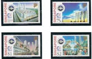 Singapore 712-15 MNH 1995 City Scenes (ap6885)