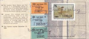 1984, South Dakota, Archery, Small Game, Pheasant & Black Hills Tax Stamp (2526)