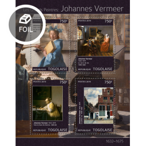 TOGO 2014 SHEET VERMEER ART PAINTINGS tg14320a