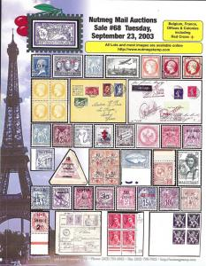 Nutmeg Stamp Sales - Foreign: Belgium, France, Office & C...