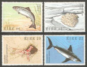 IRELAND Sc# 525 - 528 MNH FVF Set4 Marine Life Shark Oyster Salmon Prawns