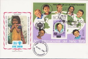 NICARAGUA LATIN AMERICA YEAR OF CHILD 1979 FDC 17438