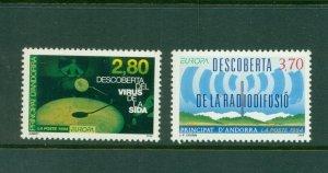 Andorra (French) #436-37 (1994 Europa Discoveries) VFMNH CV $4.50
