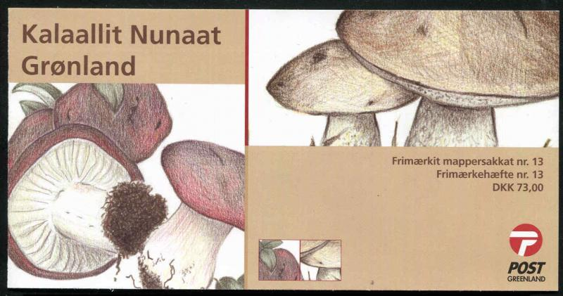 Greenland 2005 Mushrooms Booklet Nr. 13 Self Adhesive MNH Complete
