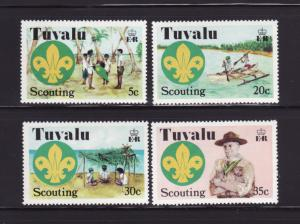 Tuvalu 50-53 Set MNH Scouts (A)