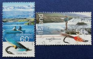 Iceland Fishermen Fish Flies Scott # 1052-3 Used (I894)