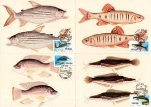Venda - 1987 Freshwater Fish Maxi Card Set SG 159-162