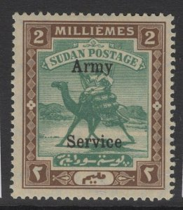 SUDAN SGA7 1906 2m GREEN & BROWN MNH