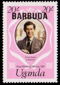 Barbuda Stanley Gibbons 574a Mint never hinged with pencil mark on reverse.