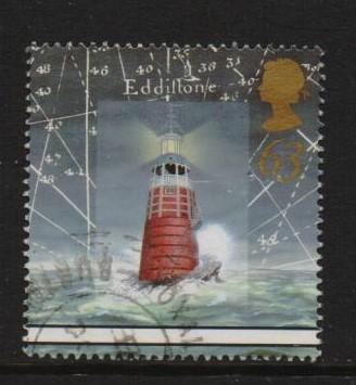 Great Britain 1998 used lighthouses  63p.#