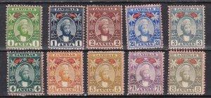 Zanzibar # 56-61B, Complete, 3 are no gum  or lightly used,