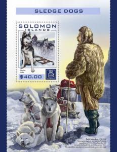 SOLOMON ISLANDS 2016 SHEET SLEDGE DOGS slm16404b