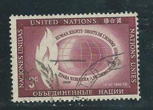 UN New York 47   Used  1956  PD