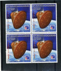Malagasy 1999 SPACE First Letters Block of (4) Perforated mnh.vf