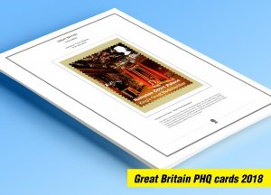 COLOR PRINTED GREAT BRITAIN 2018 PHQ CARDS STAMP ALBUM PAGES (133 illust. pages)