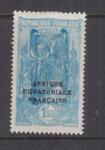 MIDDLE CONGO, 1924 AEF overprint, 1f.50 Ultramarine, heavy hinged mint, thins.