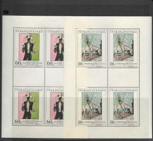 Czechoslovakia 1507-11 m/s of 4 Paintings  MNH X 6 vf, 2020 CV $144.00