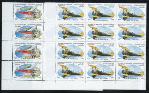 Cambodia 1527-32 MNH Antique Aircraft Blocks of 20 from 1996