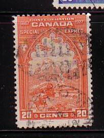 Canada Sc E3 1927 20 c Special Delivery stamp used