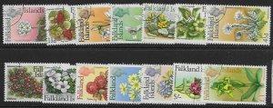 FALKLAND ISLANDS SG232/45 1968 FLOWERS DEFINITIVE SET USED
