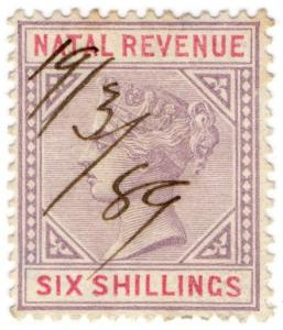(I.B) Natal Revenue : Duty Stamp 6/-
