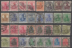 COLLECTION LOT OF #1184 GERMANY 32 GERMANIA STAMPS 1902+ CLEARANCE CV + $50