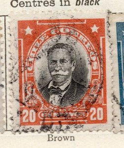 Chile 1911 Early Issue Fine Used 20c. NW-11443