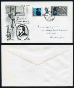SG667p-8p 1965 Lister phos illustrated First Day Cover