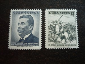 Stamps - Cuba - Scott#594,C181 - Mint Hinged Set of 2 Stamps