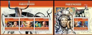 Guinea 2013 Picasso paintings art famous persons nice klb+s/s MNH