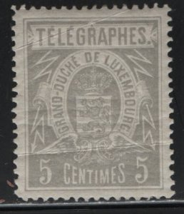 LUXEMBOURG, TELEGRAPH STAMP, HINGED, UNLISTED