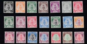 PERAK  1950 - 52    S G 128 - 148   SET OF 21  MH  CAT £100