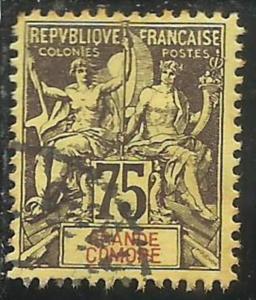 FAUX FOURNIER GRANDE GRANDI COMORE FRANÇAISE GRAND COMORO 1897 1907 PAIX NAV...