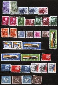 J23045 JLstamps various 1966-8 sweden sets used 1st set mh #699-up designs