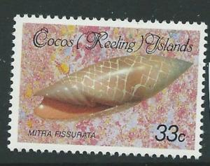 COCOS (KEELING) IS. SG144 1985 33c MOLLUSCS MNH