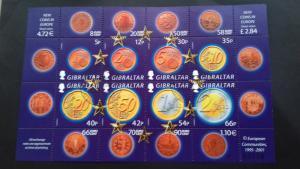 Gibraltar 2002 Euro Coins Used