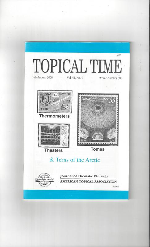 Topical Time Magazine JUL-AUG 2000  Number 302, ATA Journal