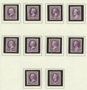 #O25P3 - O34P3 (1c - 90c) JUSTICE DEPT PLATE PROOFS ON INDIA VF+ BV555