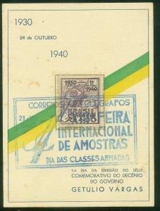 Brazil INTERNATIONAL FAIR ILLUSTRATED POSTCARD..F.  (23)