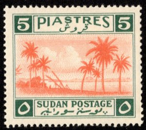 Sudan Scott 74 Unused hinged.
