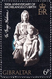 Gibraltar # 326 mnh ~ 6p Sculpture by Michelangelo