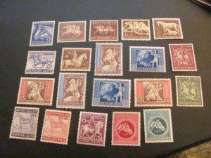GERMANY 1940'S MNH  12 HORSE SETS  (113)